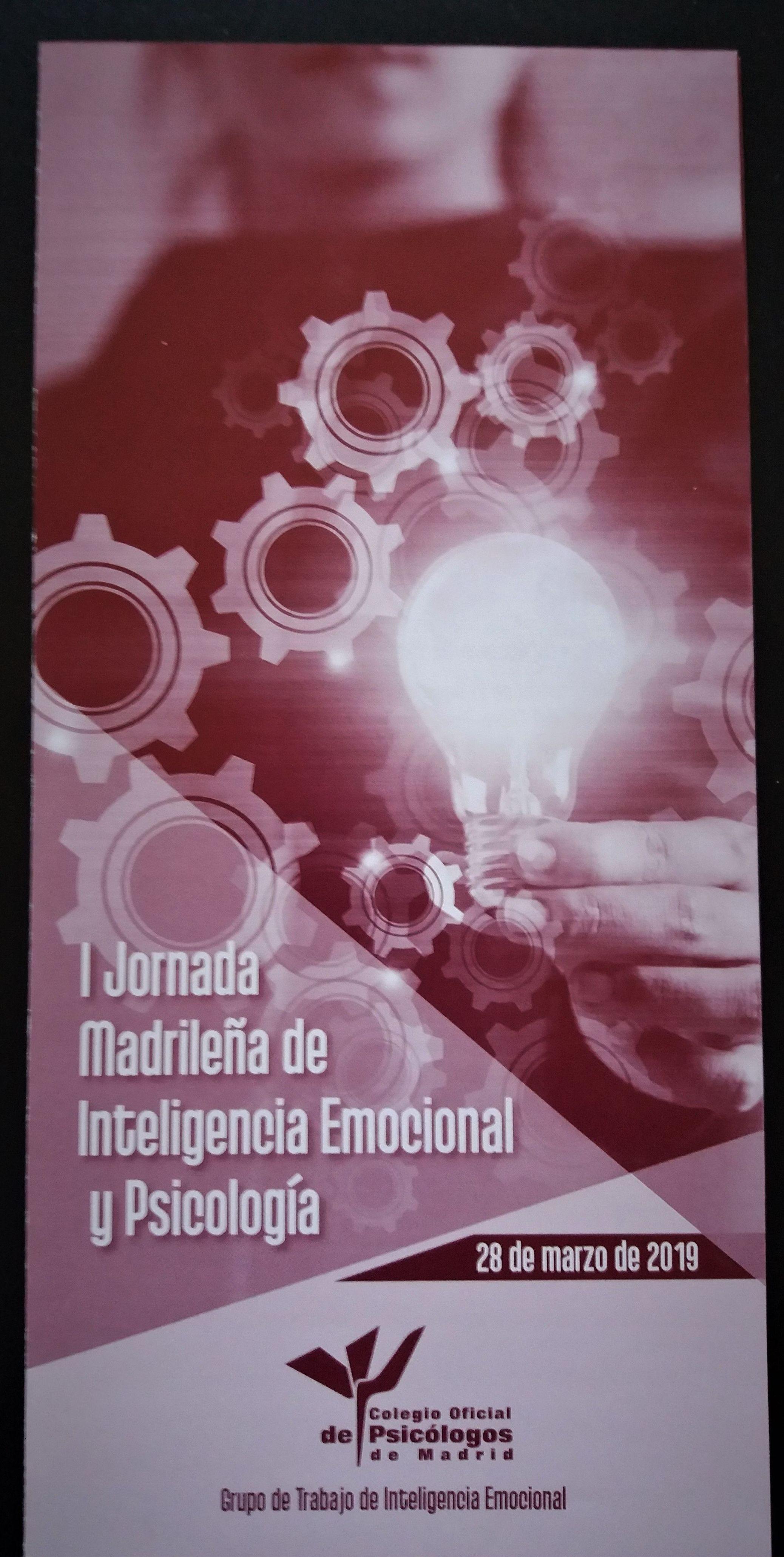 JORNADA DE INTELIGENCIA EMOCIONAL. Silvia Bautista. Psicóloga. Collado Villalba. Madrid.