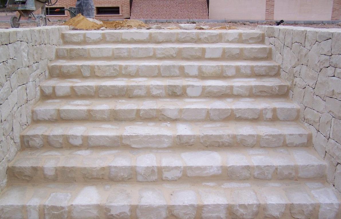 Escaleras en mampostería con junta mortero