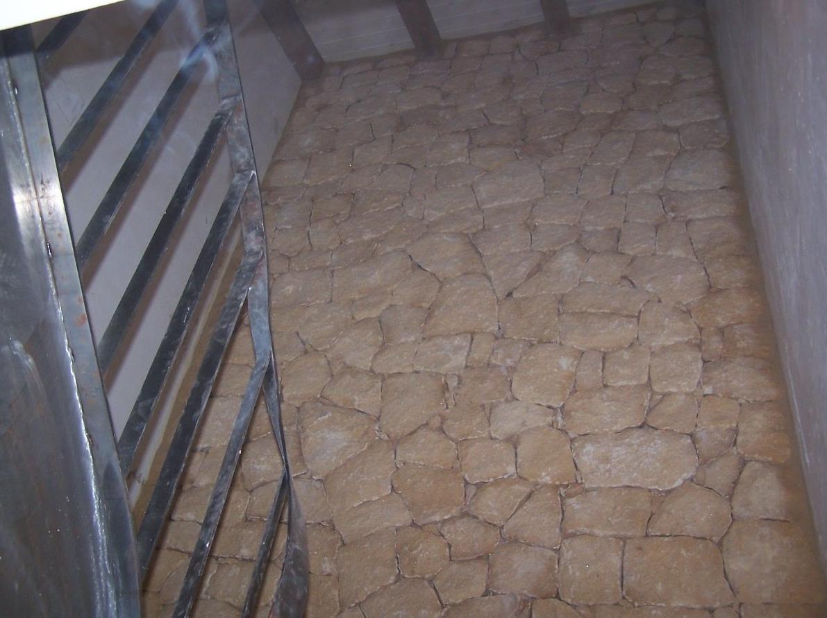 Pared de interior en piedra de la Nucia
