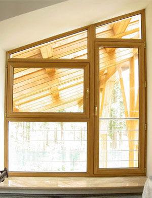 Cerramiento lacado madera interior