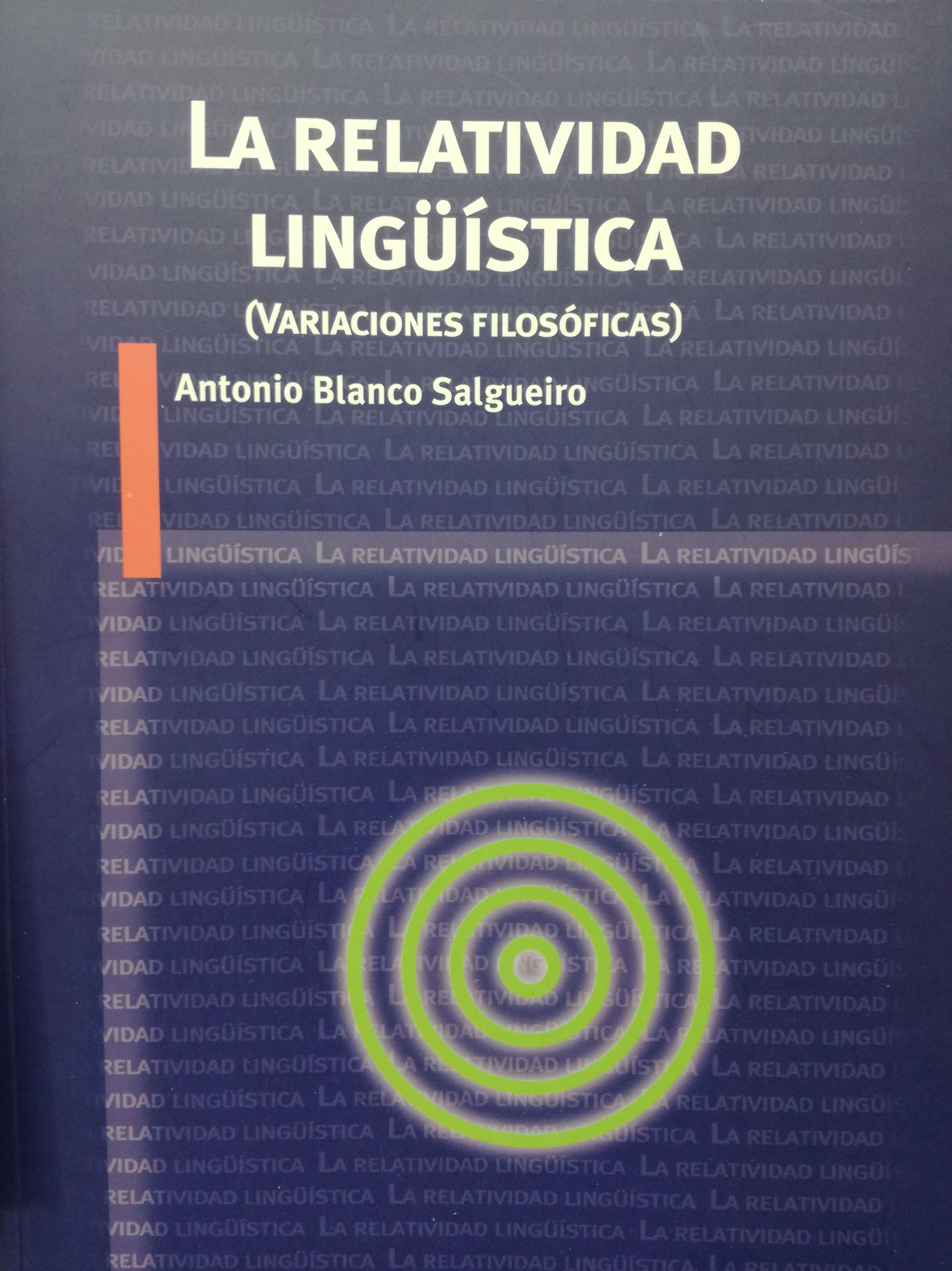 La relatividad Lingüistica: SECCIONES de Librería Nueva Plaza Universitaria