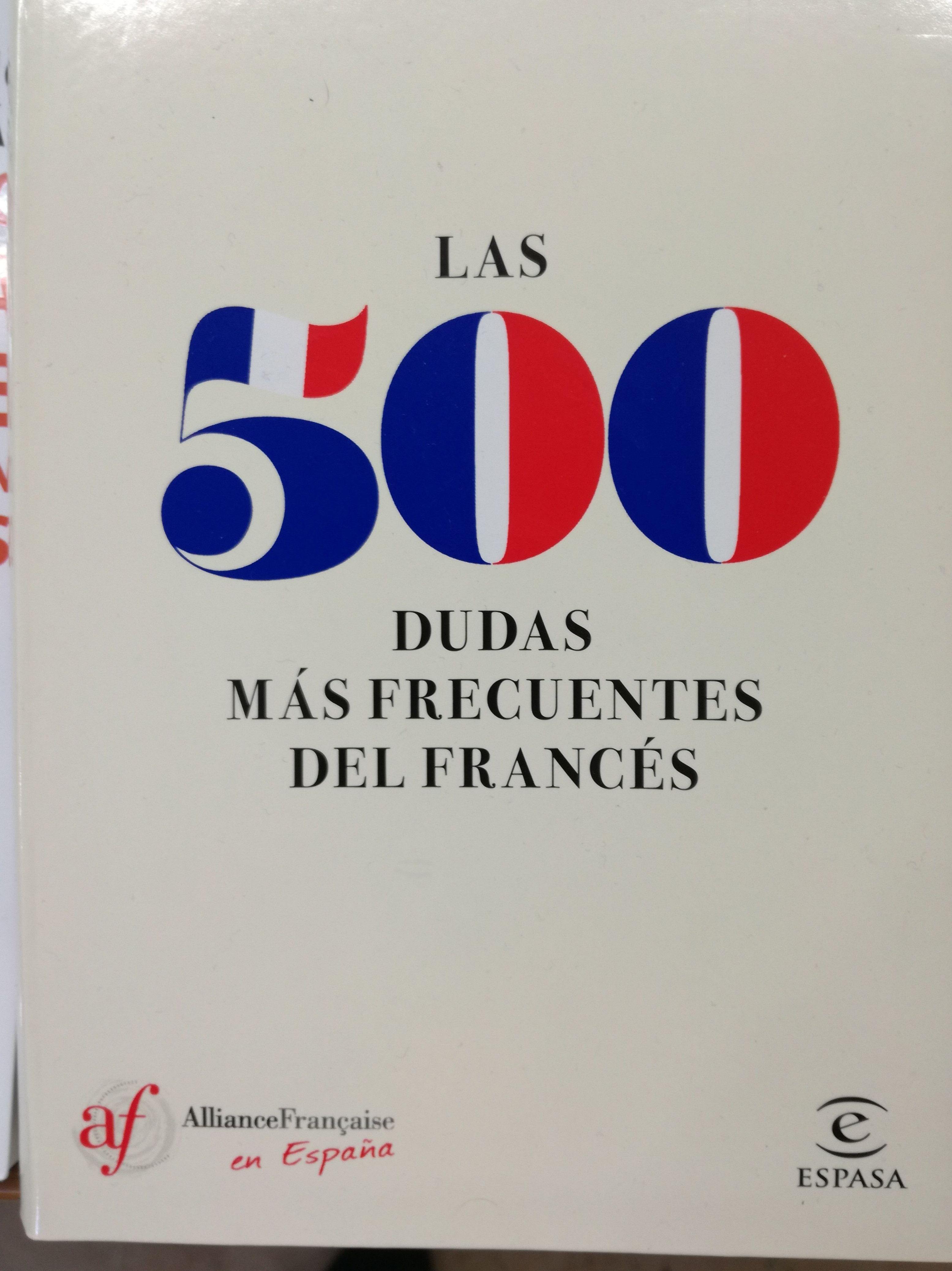 Las 500 dudas más frecuentes del francés: SECCIONES de Librería Nueva Plaza Universitaria