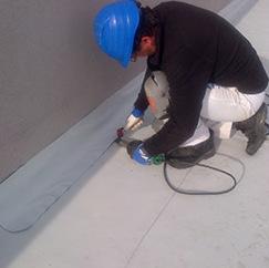 Impermeabilización de terraza con lámina de PVC