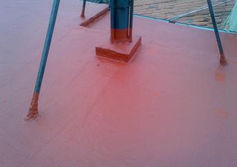 Impermeabilización de cubierta con caucho acrílico