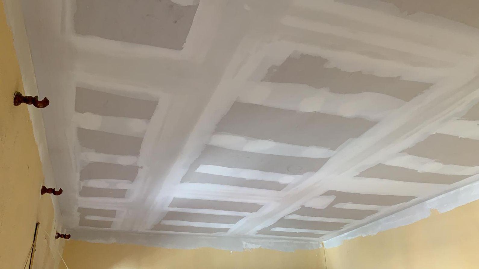 Instalación de falso techo de pladur