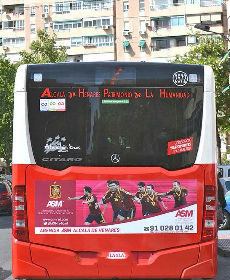 Parte trasera del autobús