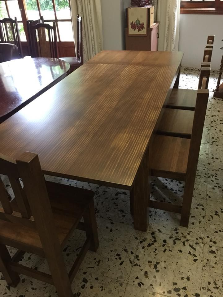 Mesas de madera en Tenerife