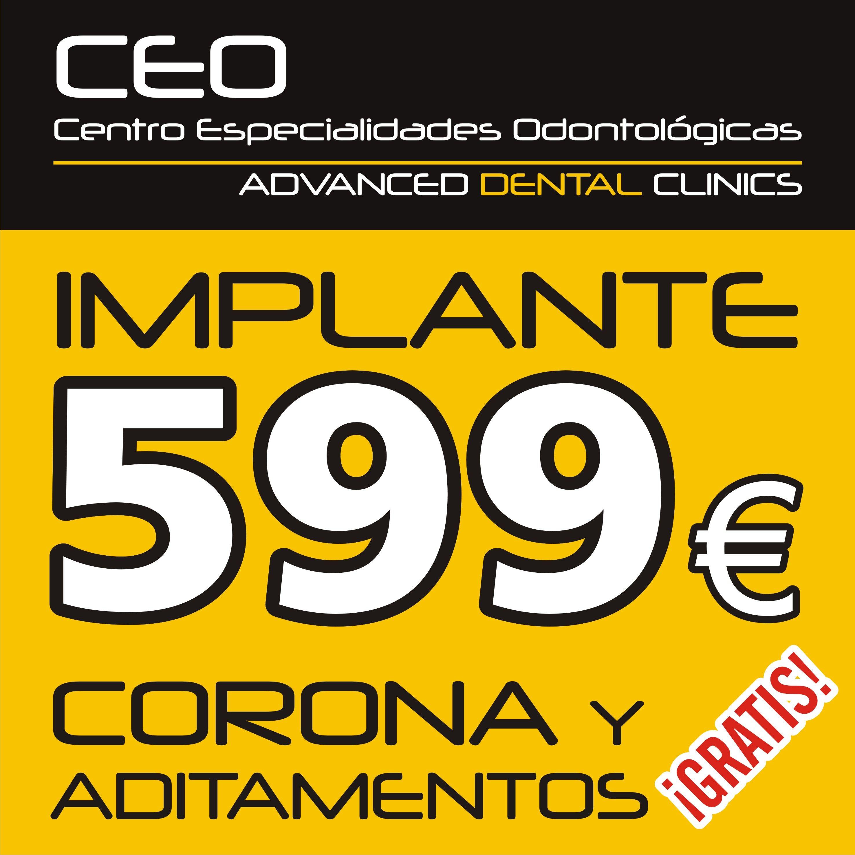 Promoción en implante más corona: Tratamientos dentales de Centro Especialidades Odontologicas
