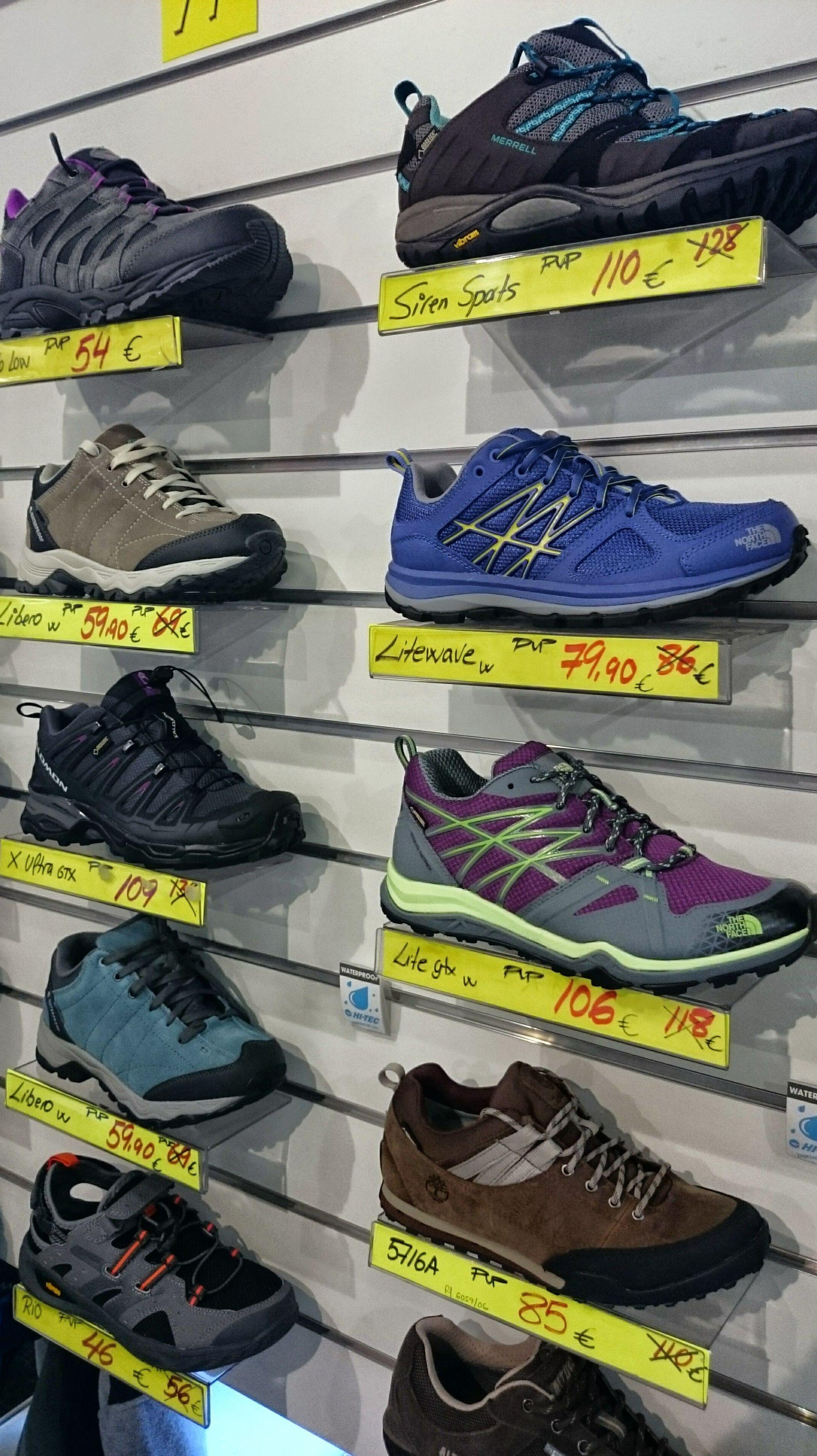 calzado especializado en montaña.y senderismo.