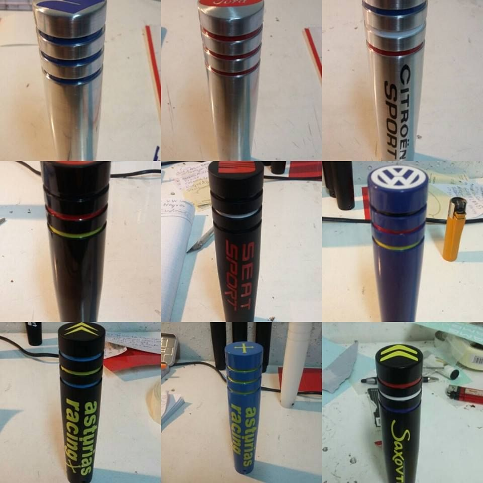 Diseño y fabricación de pomos racing personalizados en Gijón