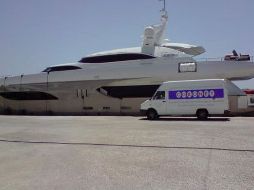 Yacht cleaning in Cartagena