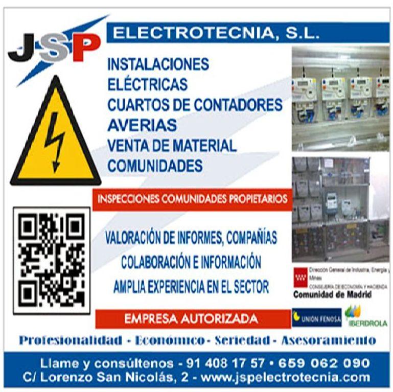Venta de material: Servicios de Jsp Electrotecnia, S.L.