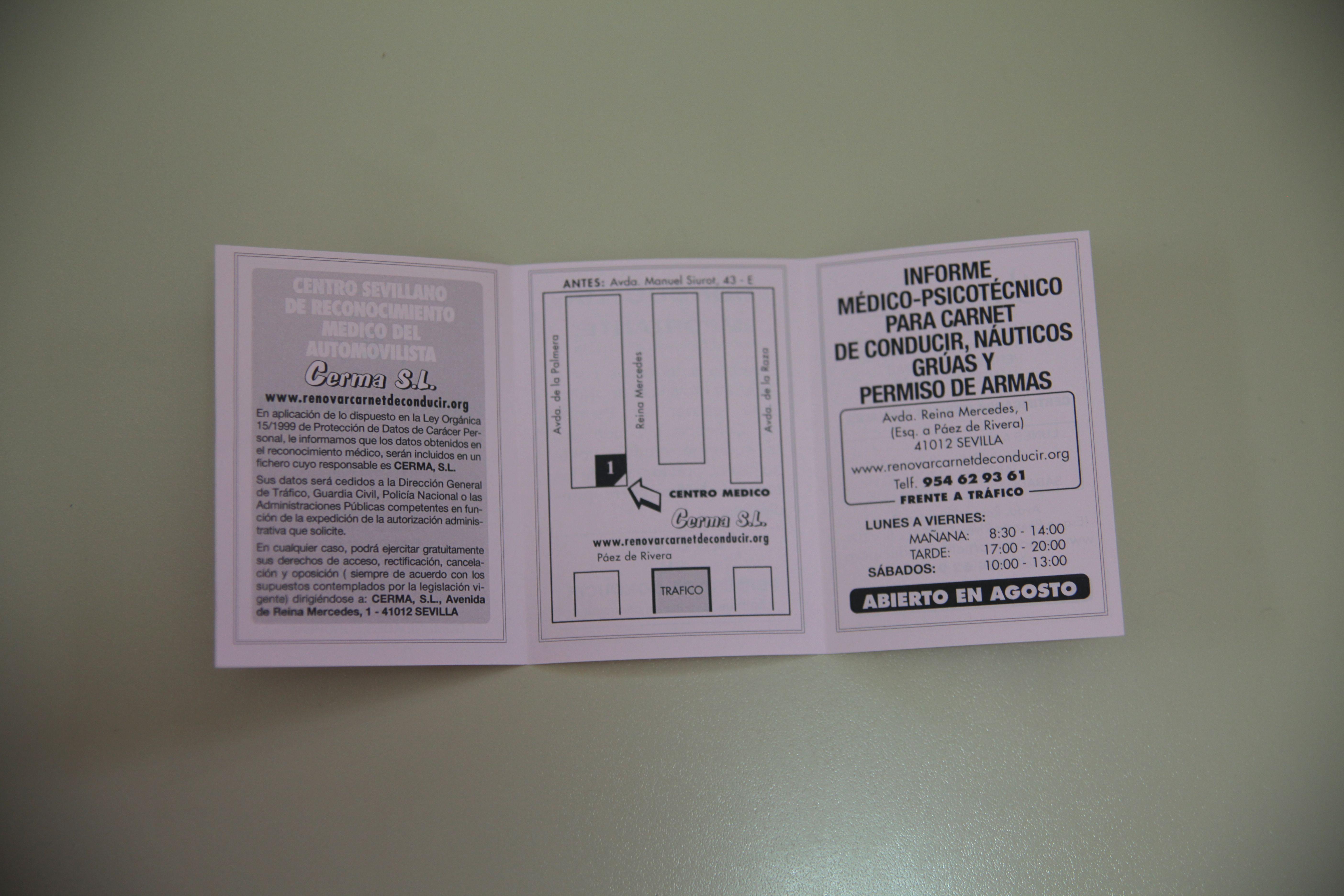 Foto 8 de Reconocimientos y certificados médicos en SEVILLA   CERMA S.L.