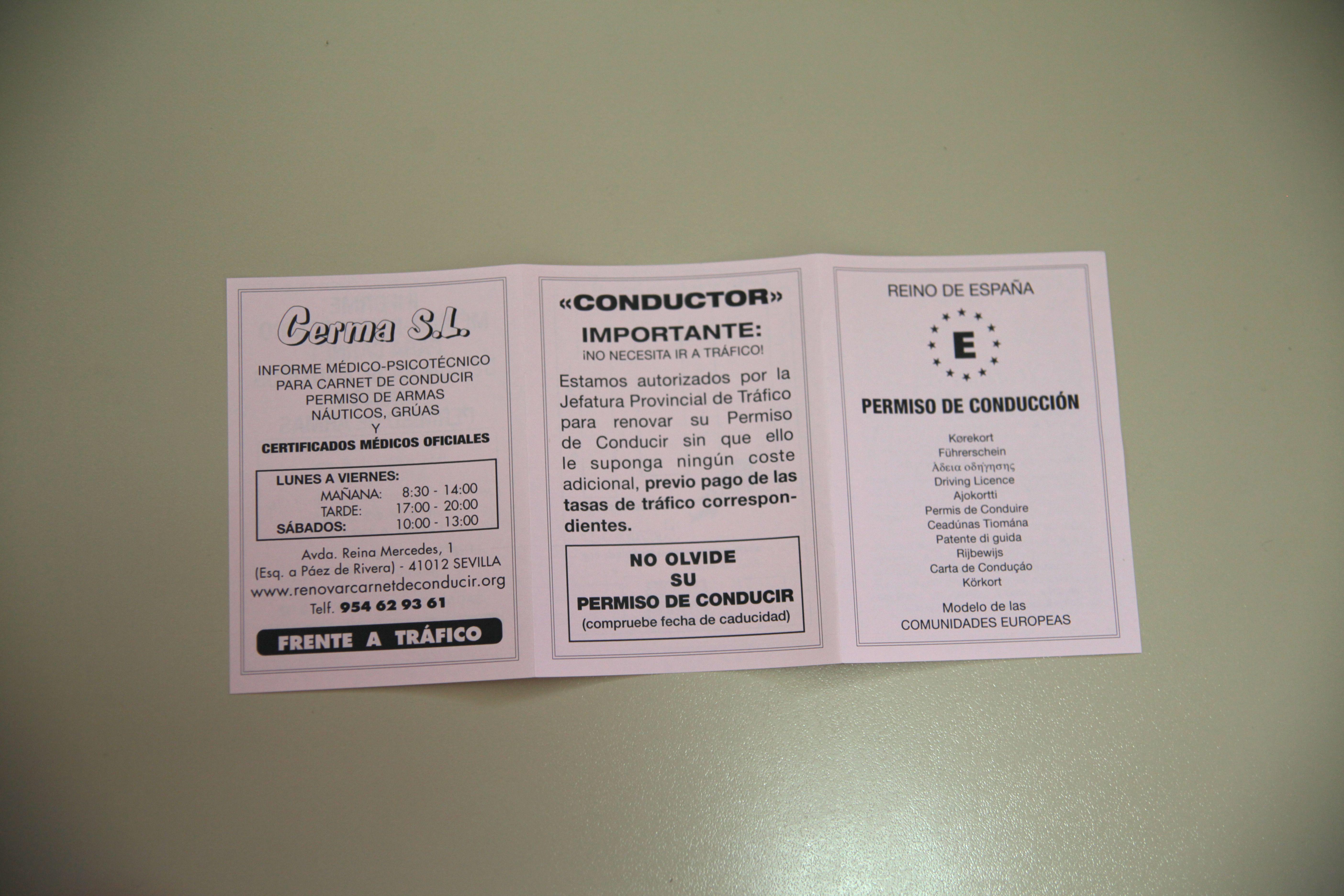 Foto 7 de Reconocimientos y certificados médicos en SEVILLA | CERMA S.L.