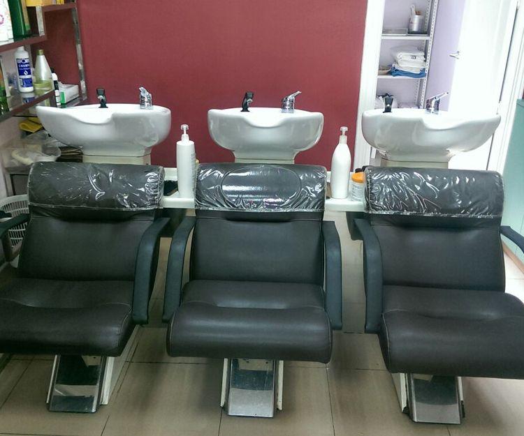 Zona de lavado de cabezas de nuestra peluquería en Madrid
