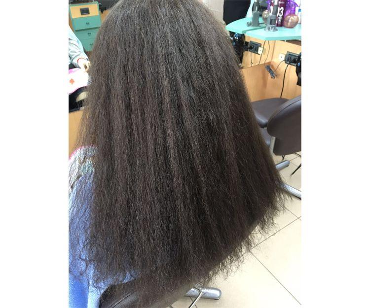 Alisado de pelo, antes