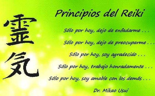 Cinco principios del Reiki- Centro Hope