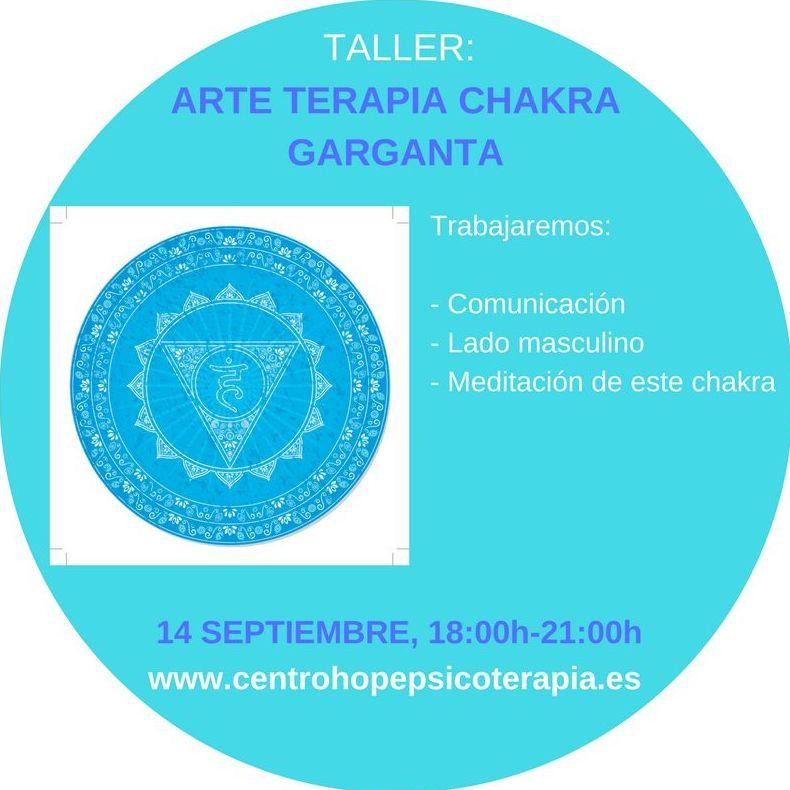 Taller de Arte terapia del chakra garganta. Centro Hope