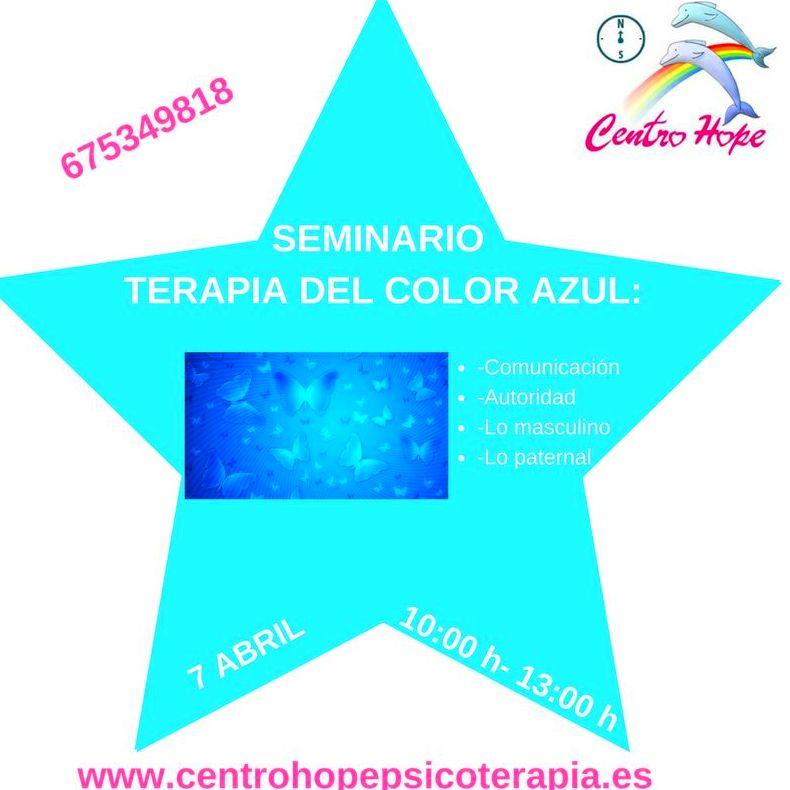 Terapia del color azul. Centro Hope