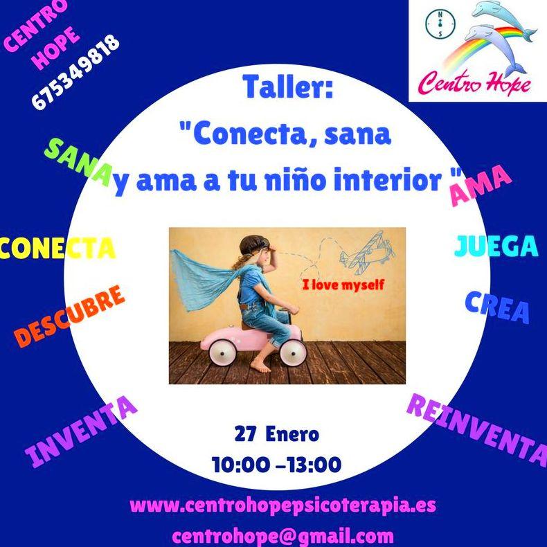 Seminario terapéutico de conecta y sana a tu niño interior Centro Hope