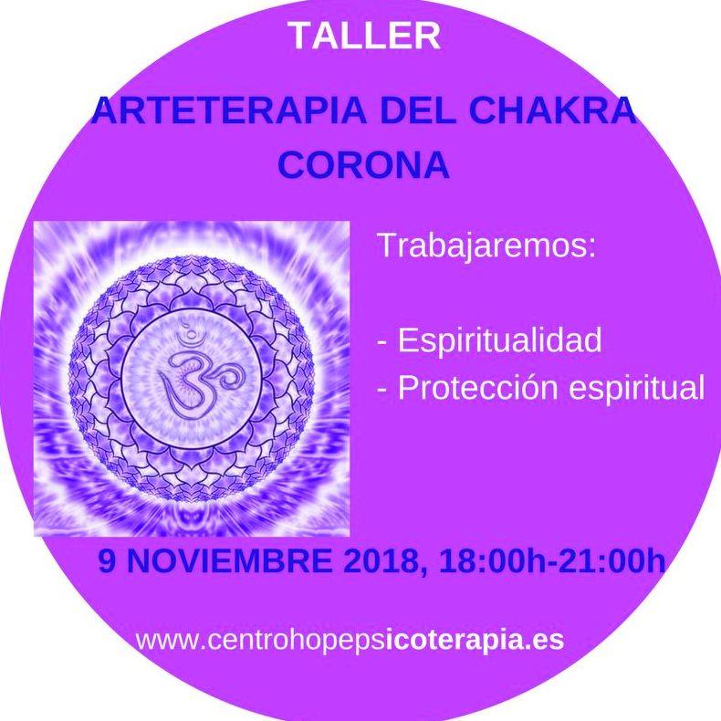 Taller de Arte terapia del chakra corona. Centro Hope