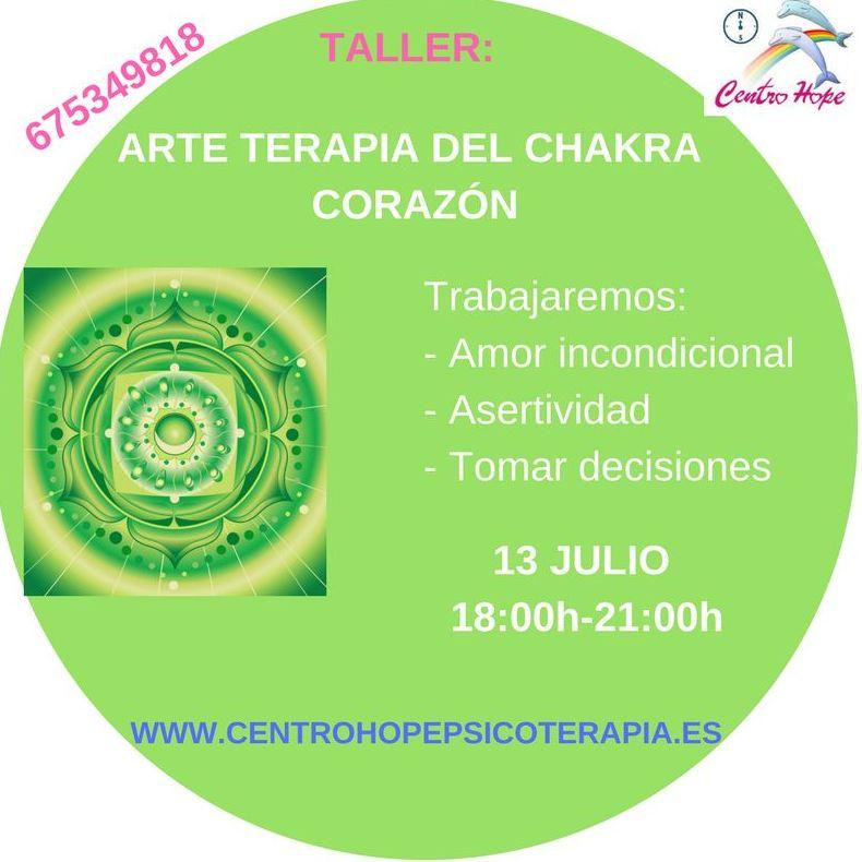 Taller de Arte terapia del chakra corazón. Centro Hope