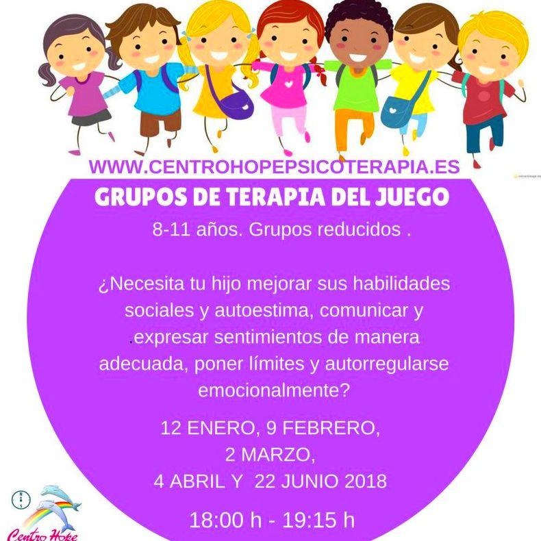 Grupos de Terapia del Juego y de Yoga para niños. Centro Hope