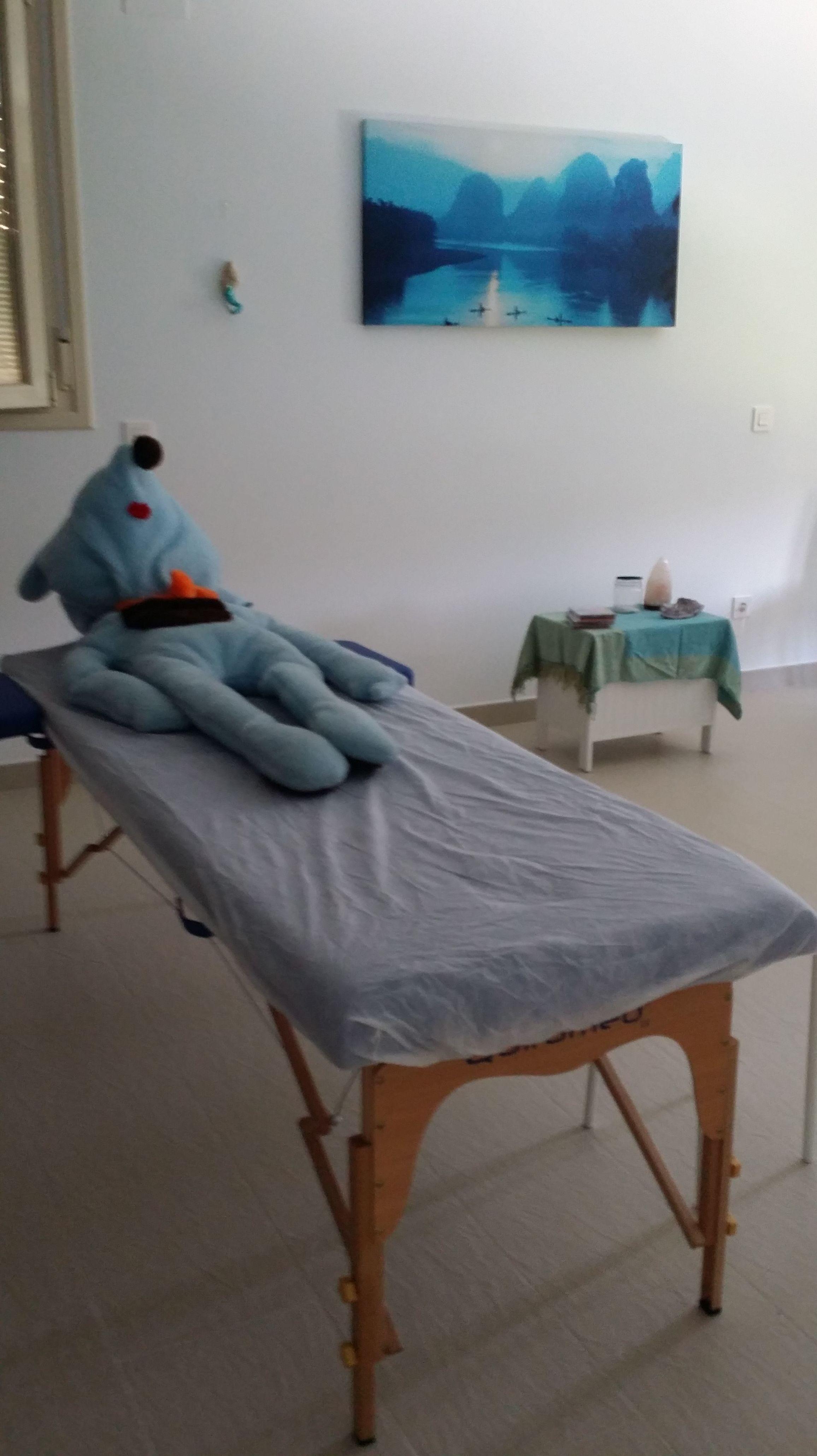 camilla masajes centro Hope con nuestro Winnicot