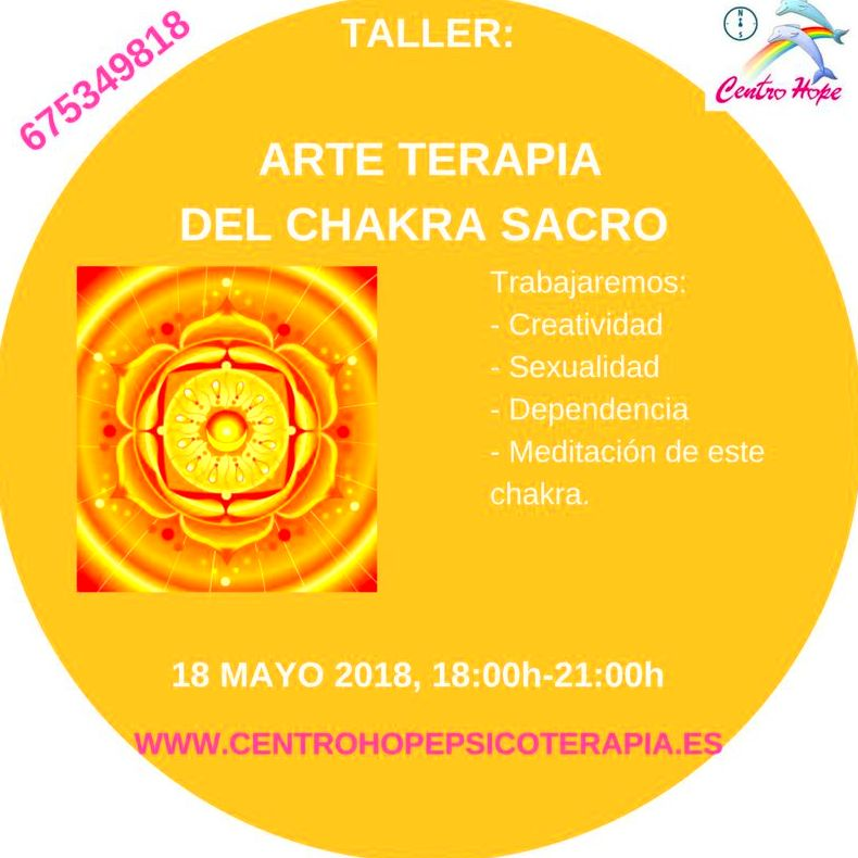 Taller de Arte terapia del chakra sacro. Centro Hope