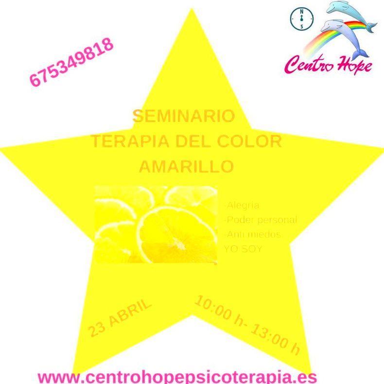 Terapia del color amarillo. Centro Hope