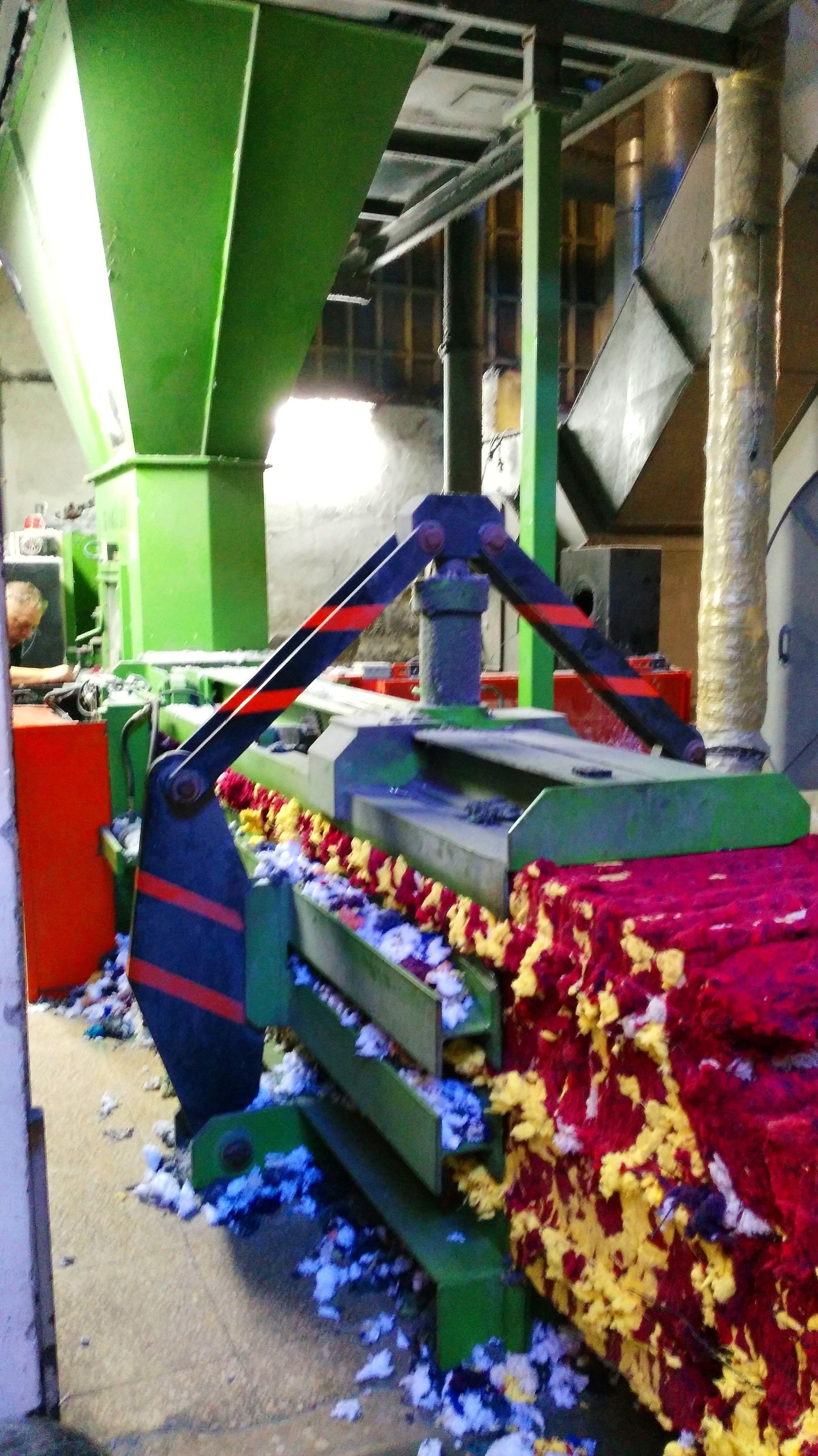 Prensa hidráulica textil: borra, lana...