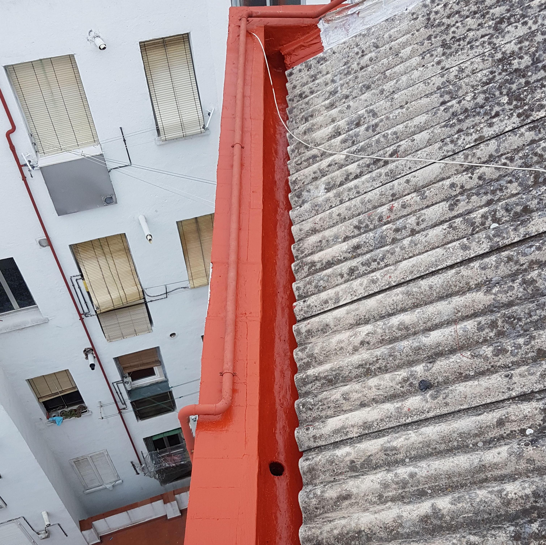 Impermeabilizacion de Canalones en calle San Francisco Nº 110 y Glorieta Valle de Oro Nº 3