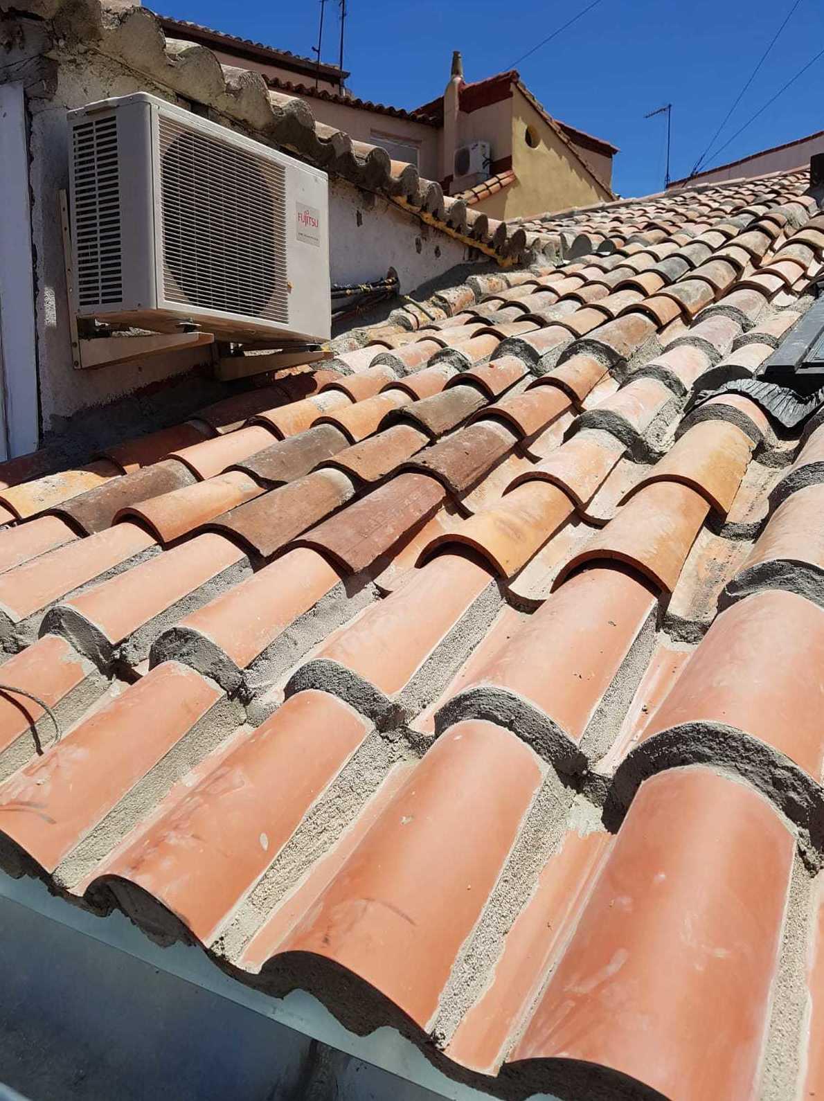 Arreglo de una cubierta de tejas en Madrid