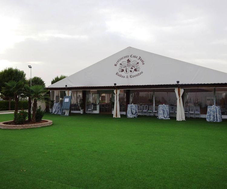 Restaurante con carpa para bodas en Tomelloso