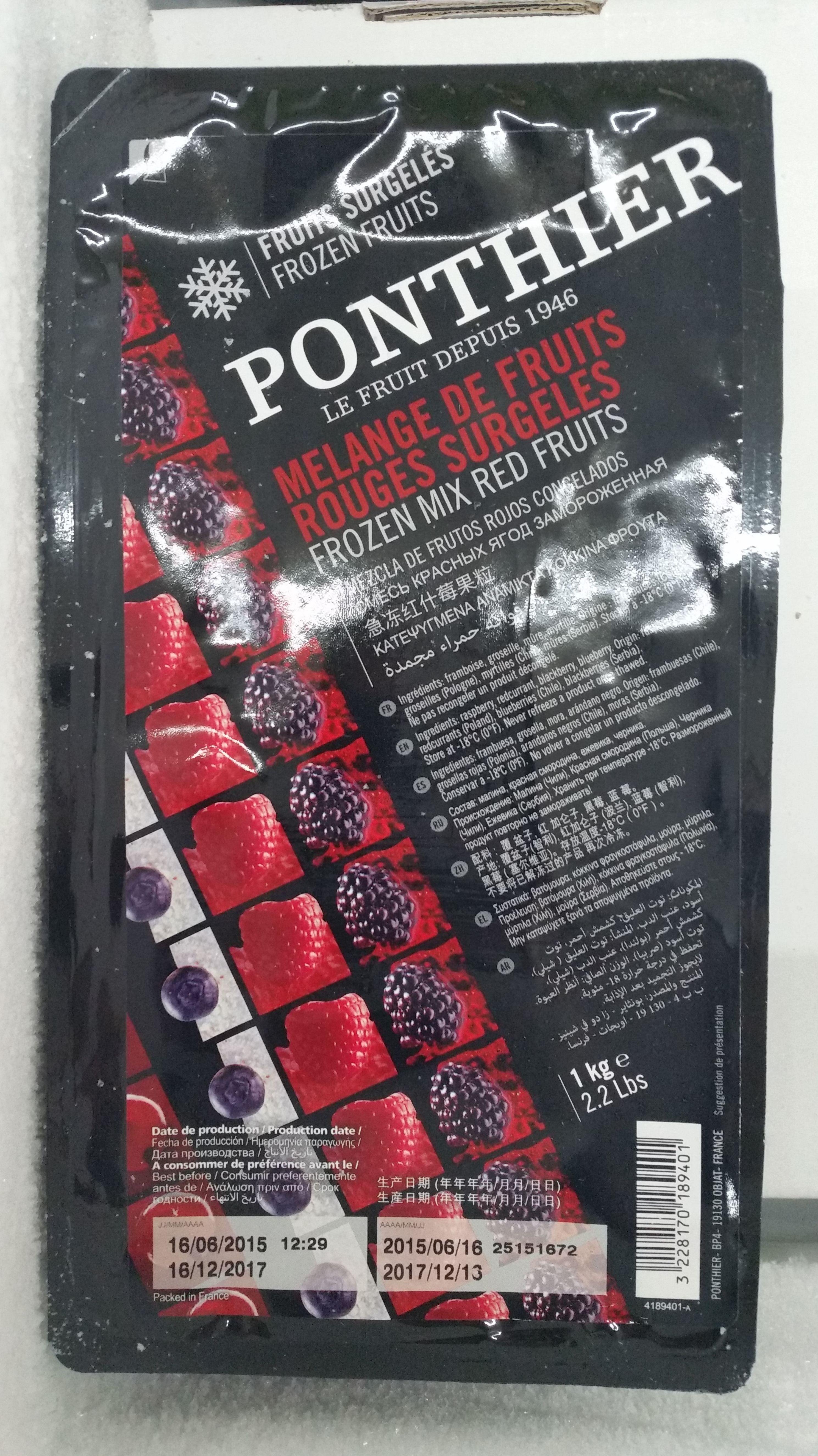 Mix Frutos Rojos Ponthier: Productos de Hiper Licores