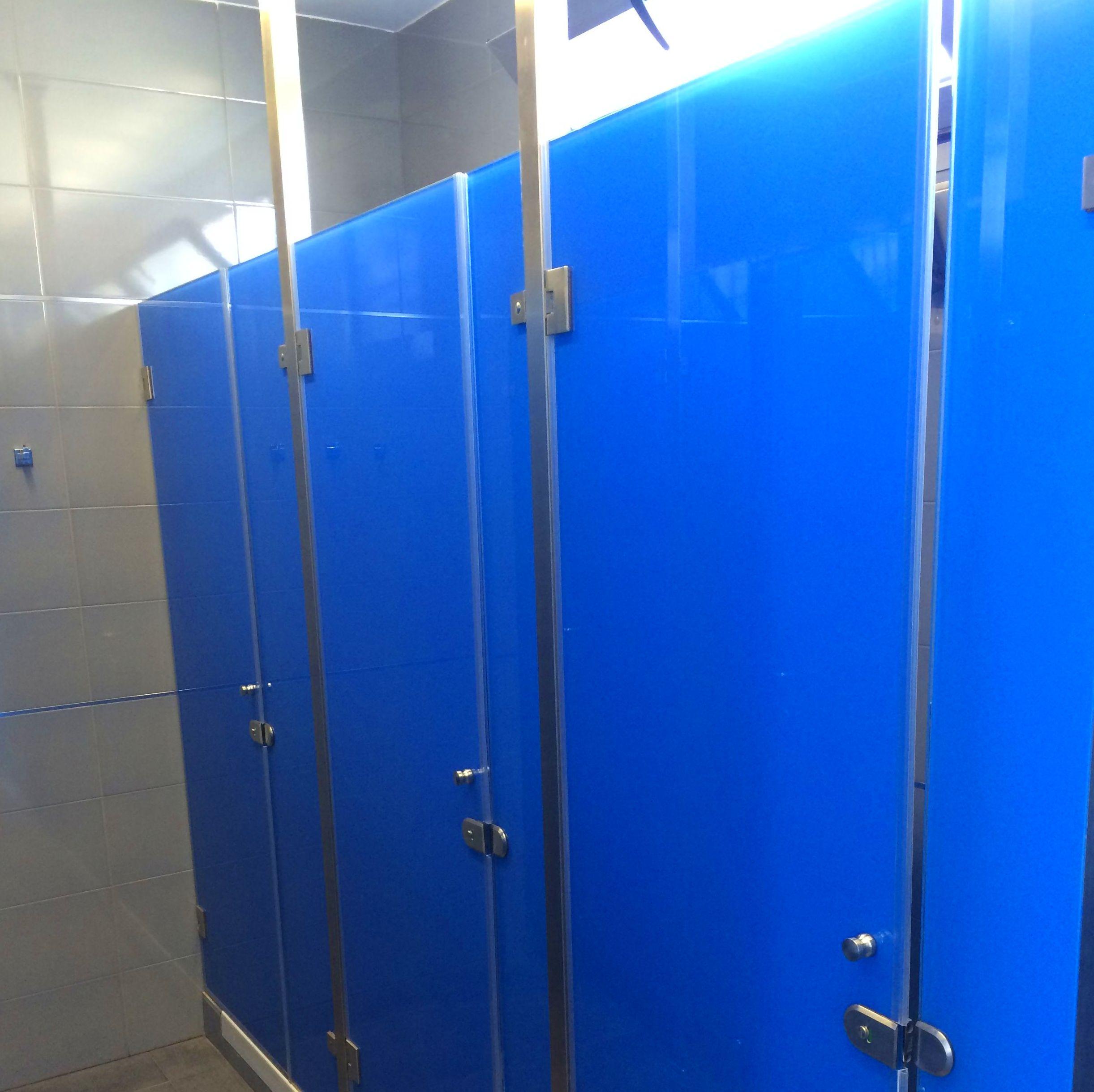Divisorias de cristal templado para duchas en color
