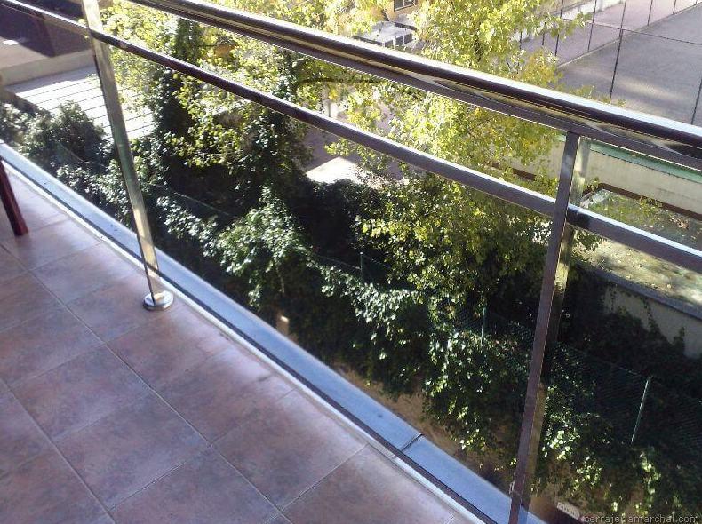 Barandilla para terraza en acero inoxidable