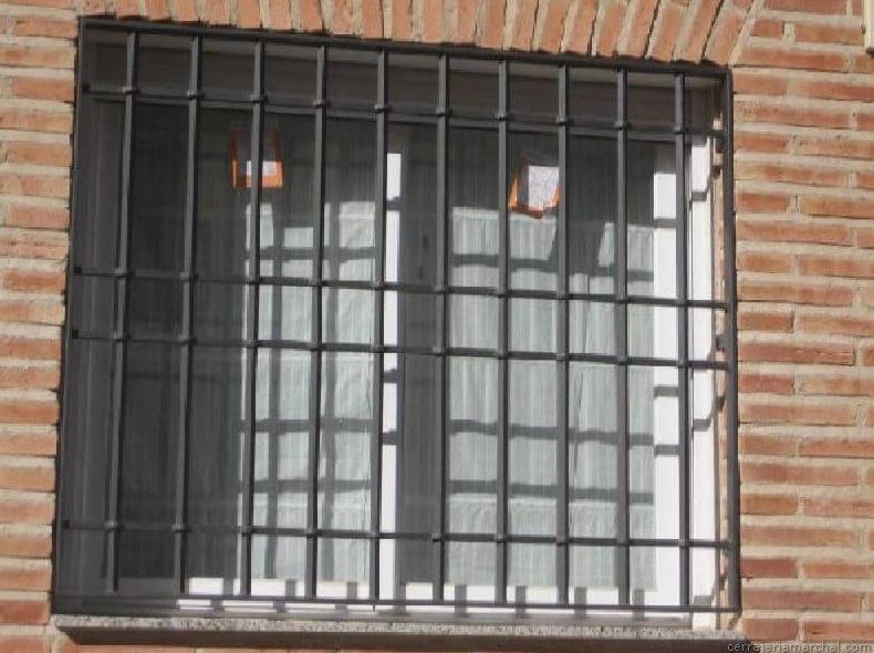 Reja para ventana en hierro
