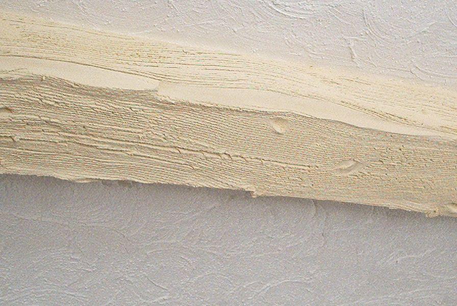 Preparación de falsa viga de madera