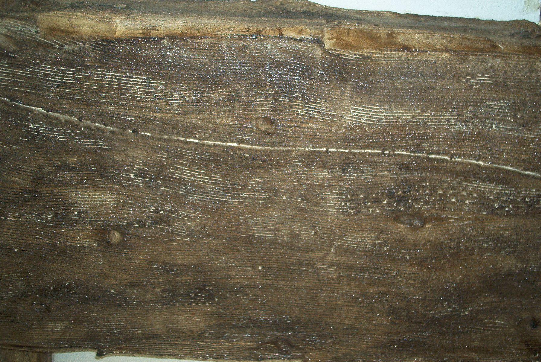 Detalle de falsa viga de madera