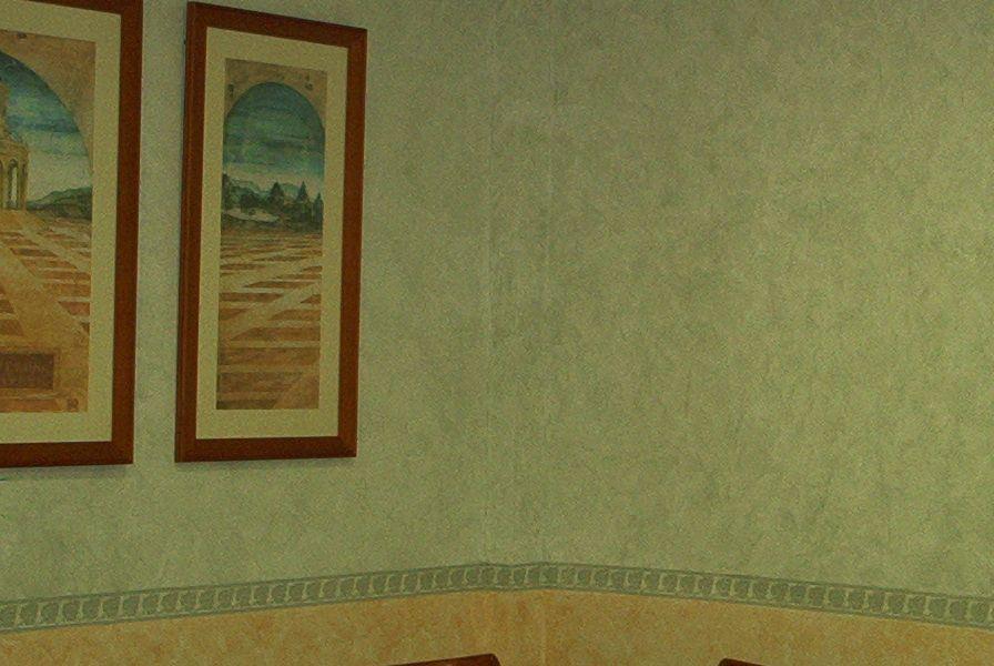 Aplicación de pinturas especiales decorativas