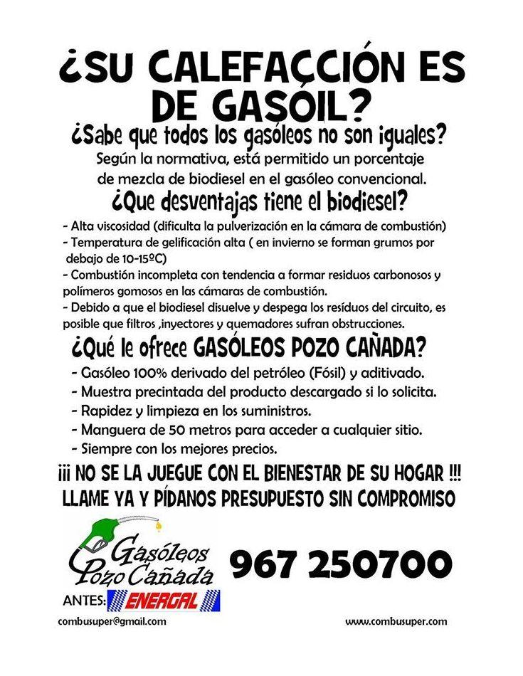 *Distribución de gasóleo en Albacete|Gasóleos Pozo Cañada
