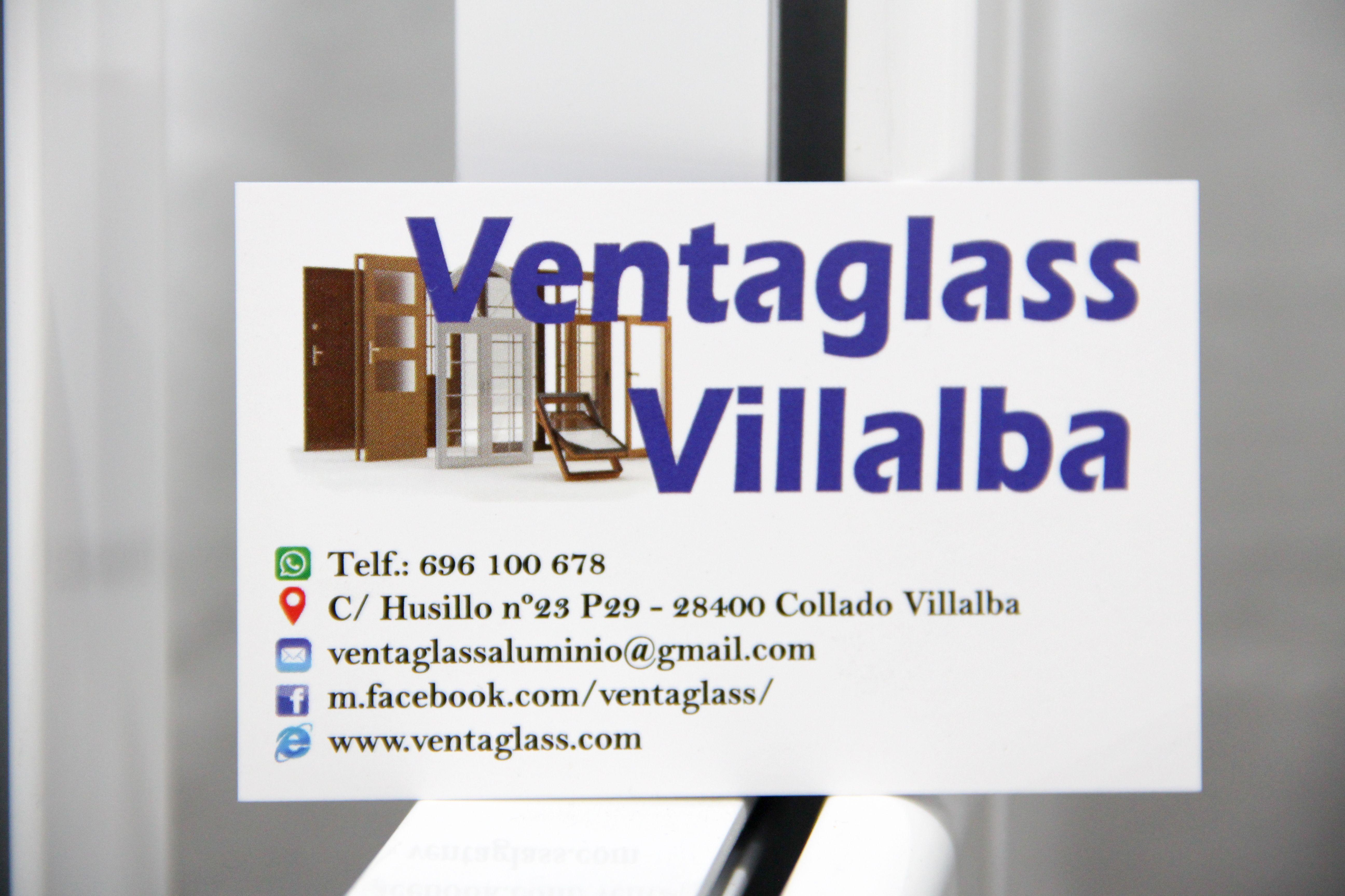 Tarjeta de visita Ventaglass Villalba