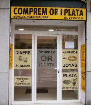 Comprem oro i plata Les Corts en Sants Barcelona