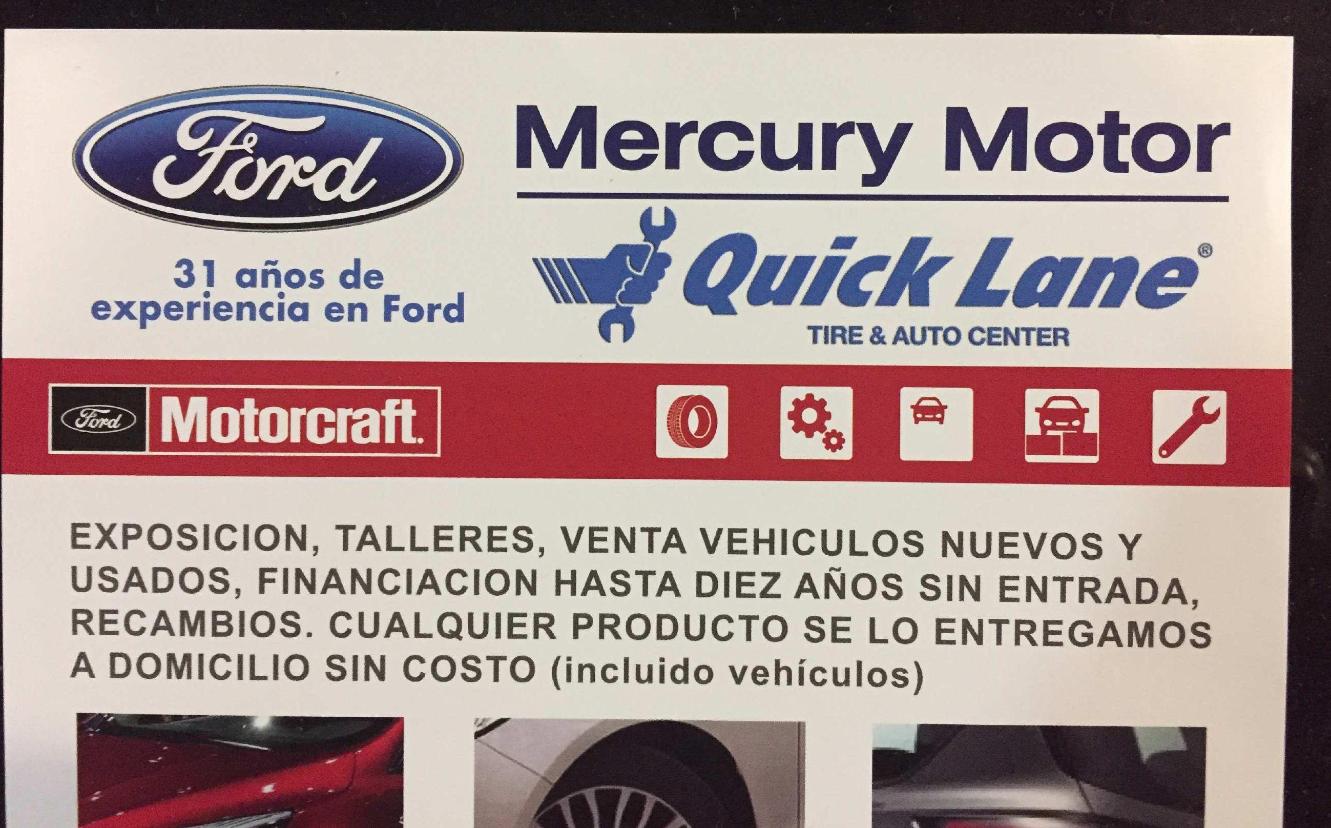 Servicios del concesionario Mercury Motor