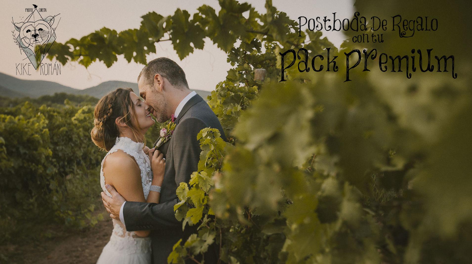 ¡Post boda de regalo con tu pack premium!
