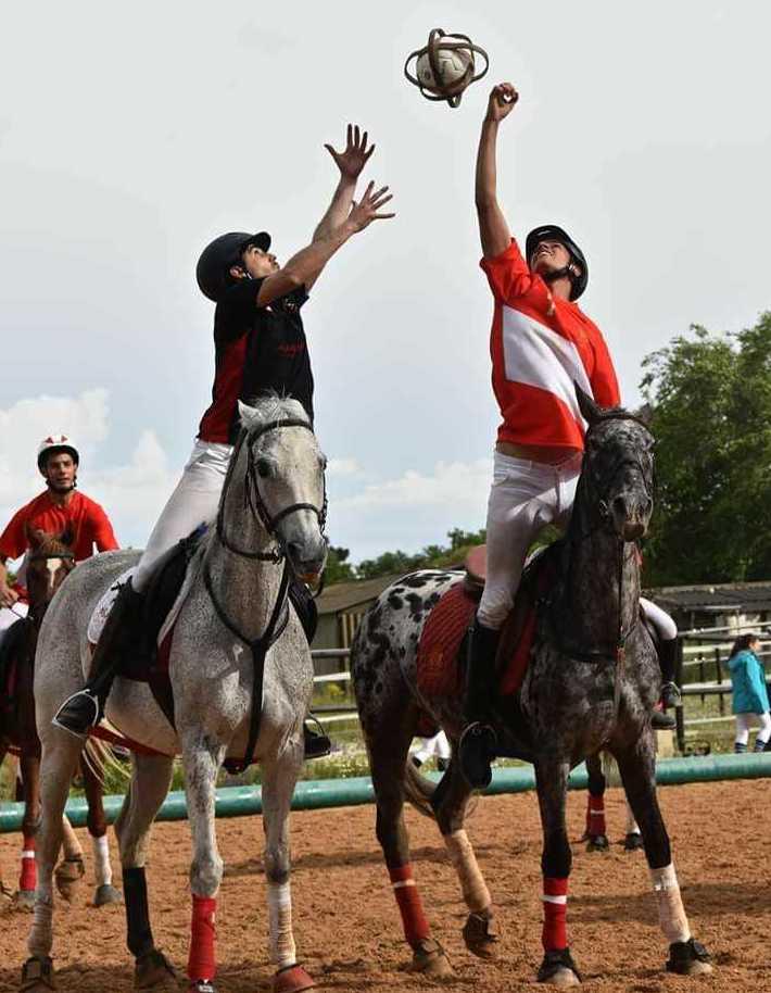 Entrenamiento de Horseball: Actividades de Las Nieves Club Hípico
