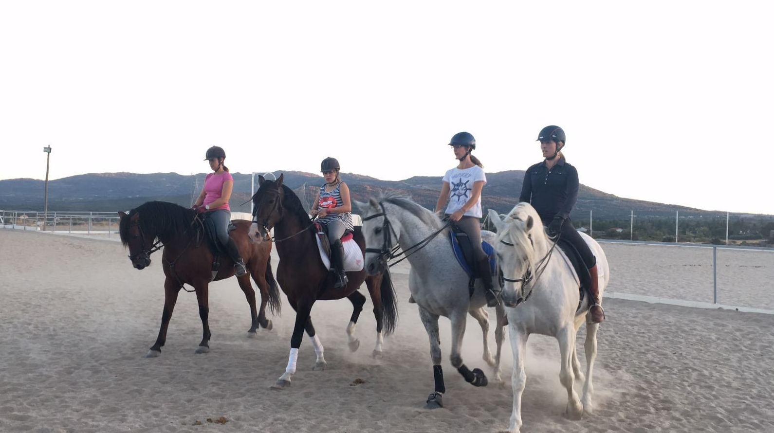 Clases a caballo en Madrid