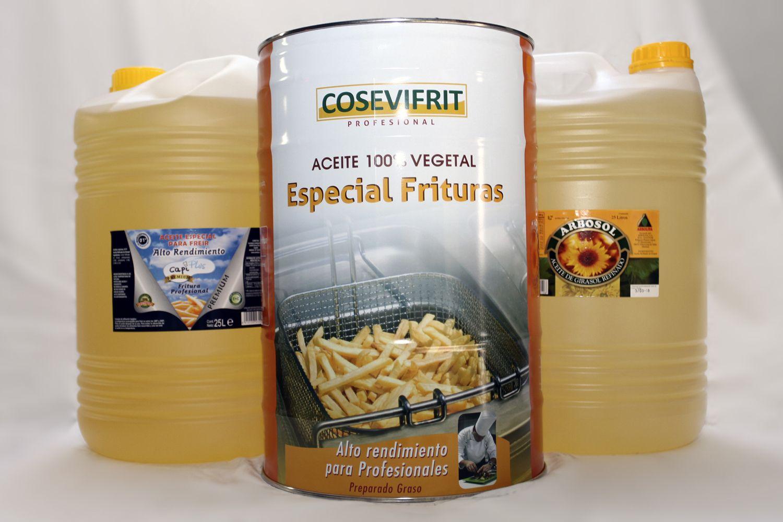 Aceite vegetal especial para frituras