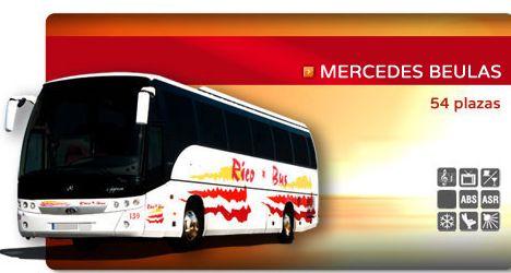 Flota de autobuses: Servicios de Rico Bus